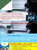 comparison between NC,CNC & DNC lathe machines