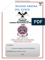 Aplicacion de Ecu. Dif. en Ing Civil