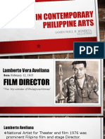 James Noel Bombita Report in Conteporary Philippine Arts