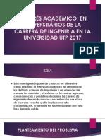 El Estrés Académico en Universitários de La Carrera