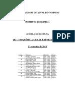Apostila QG102 - UNICAMP