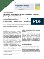 2010 Inestabilidad compleja aguda de codo, etiopatogenia, diagnóstico y estrategia quirúrgica razonada