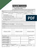 PNB 112 Account Opennig Form for Nri