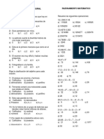 Examen Semanal 4 Primaria