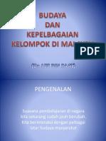Budaya Dan Kepelbagaian Kelompok Di Malaysia.2016