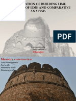 Classification of Building Lime, Properties of Lime and Comparative Analysis