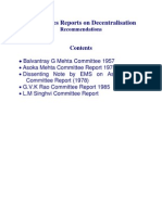 Committees on Decentralisation ( Government of India)