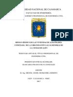 RIESGO SÍSMICO DE LAS VIVIENDAS DE ALBAÑILERÍA CONFINADA DE LA URBANIZACIÓN LAS ALMENDRAS DE LA CIUDAD DE JAÉN