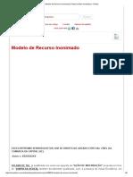 Modelo de Recurso Inonimado _ Portal Jurídico Investidura - Direito.pdf