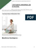 100 Razones Para Meditar