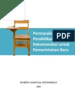 Permasalahan Pendidikan Serta Rekomendasi Untuk Pemerintahan Baru