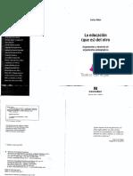 SKLIAR, CARLOS - LA EDUCACIÓN (QUE ES) DEL OTRO - ARGUMENTOS Y DESIERTO DE ARGUMENTOS PEDAGÓGICOS.pdf