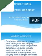 Ekonomi Teknk (Geometrik Gradient)