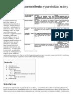 Transporte de Macromoléculas y Partículas- Endo y Exocitosis