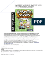 Walk Through Dan Resep Masakan Harvest Moon Back to Nature Terlengkap