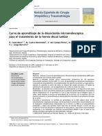 2010 Curva de aprendizaje de la discectomía microendoscópica para el tratamiento de la hernia discal lumbar
