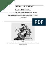 20160504 Doctrina Jurisprudencial de La Sala Primera. Sentencias de Pleno 2014