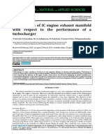CFD Analysis of IC Engine Exhaust Manifold