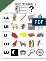 11 Conciencia Fonologica LA LE LI LO LU