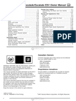 Escalade 2008 Manual