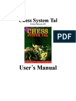 Chess System Tal (User's Manual)