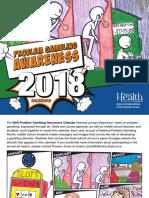 2018 Oregon Problem Gambling Awareness Calendar