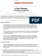 D&D 3.0 Level 11 Adventure - A Giant Ransom