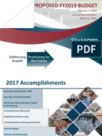 County Proposed FY 2019 Budget
