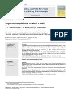 2010 Angiosarcoma Epitelioide Vertebral Primario