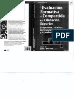 López Pastor Evaluación Formativa