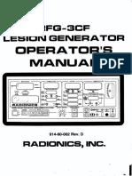 Radionics_RFG-3CF Lesion Generator - Operators Manual