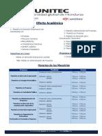 Oferta Academica Especializada UNITEC Q1-2018