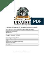 Evaluacion de Parametros de Reservorios