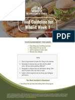 Week 1 Food Guidelines