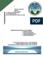 Funciones de La Administración Pública