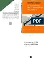 El desarrollo de la economía socialista; M. Kalecki (Libro completo)