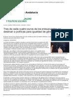 Junta de Andalucía - Tres de Cada Cuatro Euros de Los Presupuestos Se Destinan a Políticas Para Igualdad de Género