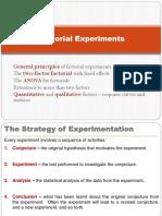 Factorial Experiments