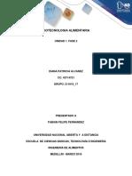 Unidad 1. Fase 2 Biotecnologia Alimentaria
