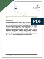 Alerta Bibliográfica Nro 3 Enero 2014