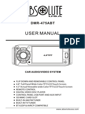 Manual Absolute 4.8 Dvd Bt Dmr-475abt | Compact Disc | Icon ... on