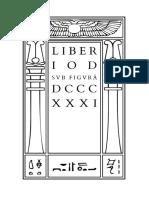 Crowley - Liber IOD sub figurâ DCCCXXXI