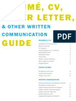 Resume and Professional Writing Guide