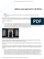 PM to Set Out Ambitious New Approach to UK-China Education - GOV.uk