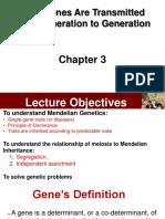 Lectures 3 and 4_Mendelian Genetics