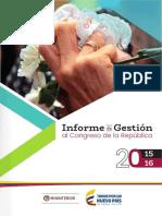 Informe de Gestion - Ministerio de Interior 2015-2016