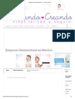 Empezar Homeschool en Mexico - Criando Creando