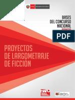 Proyectos de Largometraje de Ficción (bases de la convocatoria)