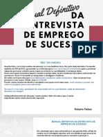 Manual Definitivo Da Entrevista de Emprego - Pallesi