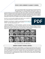 Face Recognition System Hidden Markov Model